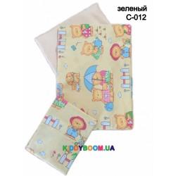 Постельное белье  Twins Comfort  (3 эл.) Пушистые мишки, зеленое С-012