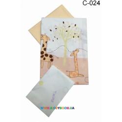 Сменный постельный комплект Twins Comfort  3 элемента Жирафы С-024