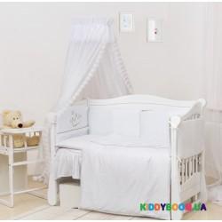 Постельный комплект Twins Romantik (7 эл.) Vintage Baby белый R-004