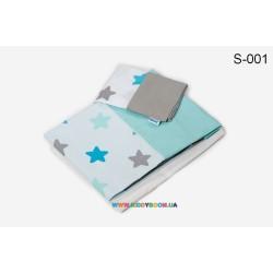 Сменный постельный комплект Twins Stars 3D 3 элемента