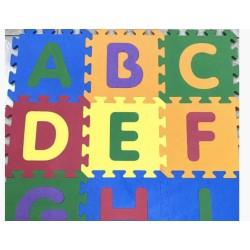 Мягкий коврик - пазлы Алфавит ABC (9 шт)
