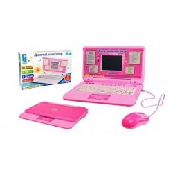 Обучающий игровой ноутбук украинский русский английский PL-720-79 розовый