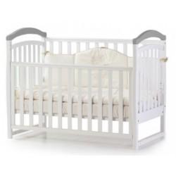 Детская кровать Соня бело-серая Верес 06.1.1.1.17