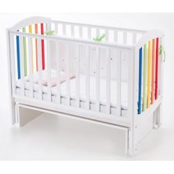 Детская кроватка Соня, белая с радугой Верес  ЛД-10