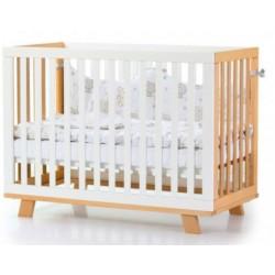 Детская кровать Соня Манхэттен бело-буковый, маятник Верес 1.1.70.32.15