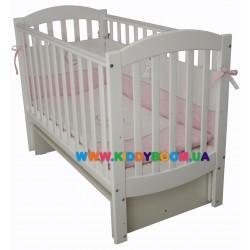 """Детская кровать Верес """"Соня ЛД 10"""" маятник белая 10.3.06"""