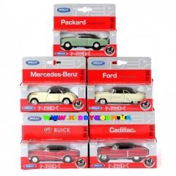 Машинки коллекционные 1:38 5 моделей ретро Welly 49720G-K16-R