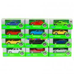 Машинки коллекционные 1:60-64 12 видов Welly 52020-36WD-IN-14-A