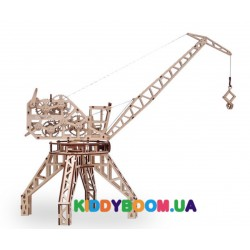 Механическая модель 3D Конструктор Подъемный кран Wood Trick ФР-00000024