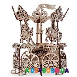 Механическая модель 3D Конструктор Карусель Wood Trick ФР-00000146