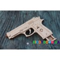 Механическая модель 3D Конструктор Пистолет Wood Trick ФР-00000145