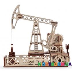 Механическая модель 3D Конструктор Нефтевышка Wood Trick ФР-00000148
