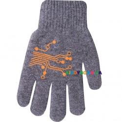 Перчатки утепленные с рисунком р.14 Yo R-200