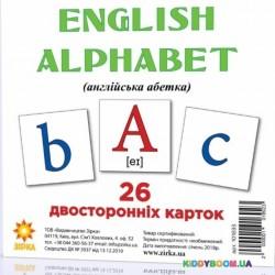 Карточки-мини Английский алфавит Зірка 101693
