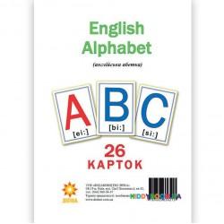 Карточки большие Английский алфавит А5 Зірка 72949