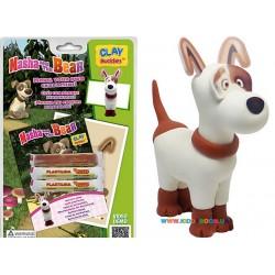 Набор для лепки CLAY Buddies базовый Маша и Медведь – Собака 308998
