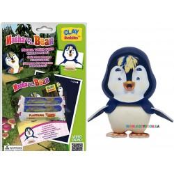 Набор для лепки CLAY Buddies базовый Маша и Медведь – Пингвин 309018