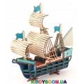 Деревянный 3Д пазл Корабль с набором красок (53 дет) ekoGOODS 19872005