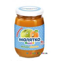 Пюре Малятко Яблоко-абрикос (с 4 мес.) 180 гр.