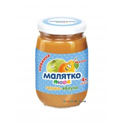 Пюре Малятко Груша-яблоко (с 4 мес.) 180 гр.