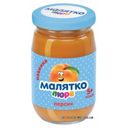 Пюре Малятко Персик (с 5 мес.) 180 гр.