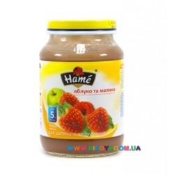 Пюре Hame Яблоко-малина (с 5 мес.) 190 гр.
