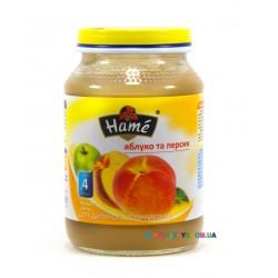 Пюре Hame Яблоко-персик (с 4 мес.) 190 гр.