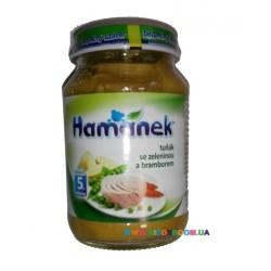 Пюре Hamanek Тунец с овощами и картофелем (с 5 мес.) 190 гр.
