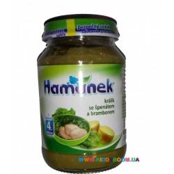 Пюре Hamanek Кролик со шпинатом и картофелем (с 4 мес.) 190 гр.