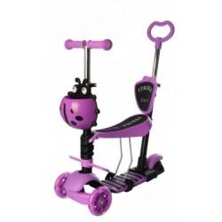 Самокат-беговел детский трехколесный (5 в 1) iTrike JR 3-026-V MAXI Фиолетовый