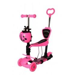 Самокат-беговел детский трехколесный (5 в 1) iTrike JR 3-026-P1 MAXI Розовый