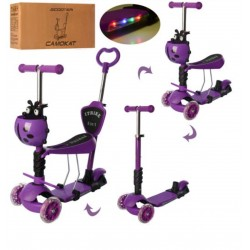 Самокат-беговел детский трехколесный iTrike (5 в 1) JR 3-077-V MAXI Фиолетовый