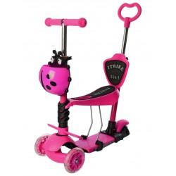 Самокат-беговел детский трехколесный (5 в 1) iTrike JR 3-077-P MAXI Розовый
