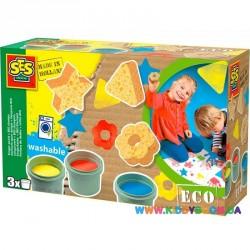 Набор для рисования пальчиковыми красками серии Эко Цветные штампы Ses 24922S