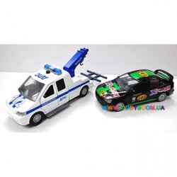 Игровой набор Эвакуатор Милиция с машиной Технопарк CT-1241-W(W
