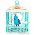 Интерактивная птичка в клетке Moose Радужный Рикки 28240