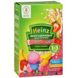 Каша Heinz Любопышки многозерновая йогуртная, банан и клубника, 1-3 года, 200г.