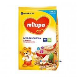 Каша молочная Milupa мультизлаковая с грушей и сухариками (с 10 мес) 210 гр.