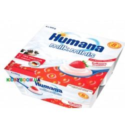 Продукт кисломолочный Humana клубника (с 6-ти мес.) 4 х 100 г
