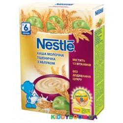 Каша молочная Nestle пшеничная с яблоком (с 6-ти мес) 200 гр.