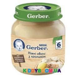 Детское мясное пюре Gerber нежные овощи с кроликом (с 6-ти мес.) 130 г