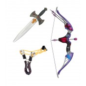 Луки, арбалеты, рогатки, мечи