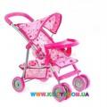 Коляска для куклы прогулочная Melogo 9304BWT