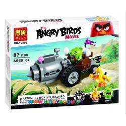 """Конструктор Angry Birds """"Побег на автомобиле свинок"""" 87 дет. Bela 10505"""