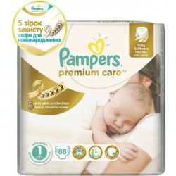 Подгузники Pampers Premium Care 1  Newborn (2-5 кг) 88 шт
