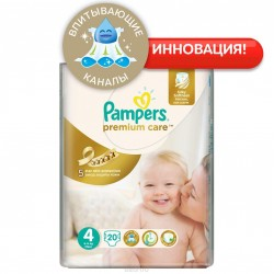 Подгузники Pampers Premium Care 4 Maxi (7-14 кг) 20 шт.
