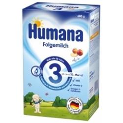Сухая молочная смесь Хумана 3 с пребиотиками галактоолигосахаридами (ГОС) и яблоком 600г
