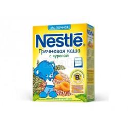 Каша молочная Nestle гречневая с курагой (с 5 мес.) 250 гр.