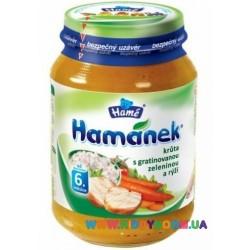 Пюре Hamanek индейка с овощами и рисом 190 г Hame