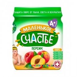 """Пюре """"Персик"""" (с 4 мес.) 90 гр. Маленькое счастье"""
